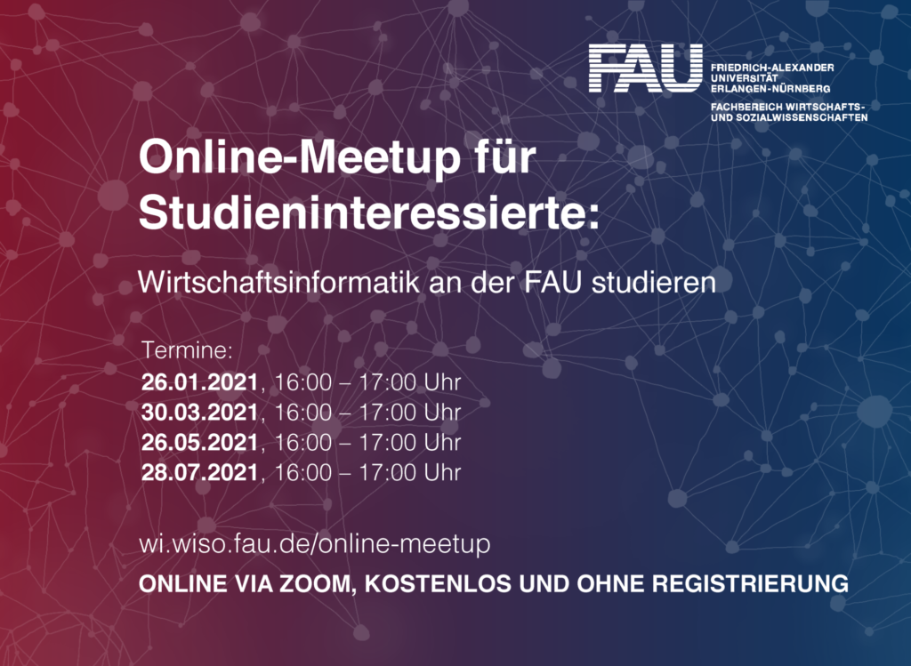 Einladung Online-Meetup Wirtschaftsinformatik