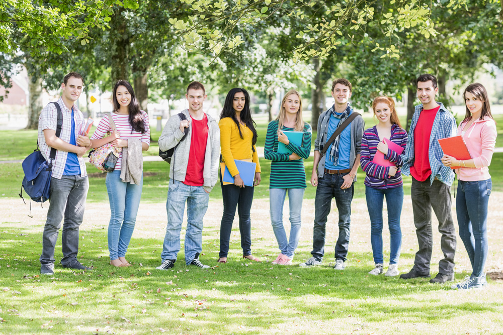 junge Menschen im Park